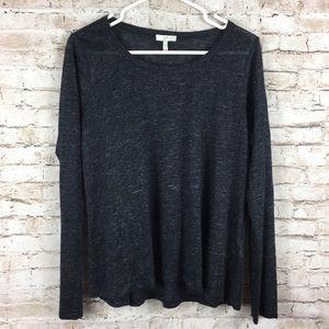 Joie Dark Gray Oversized Comfy Soft Long Sleeve